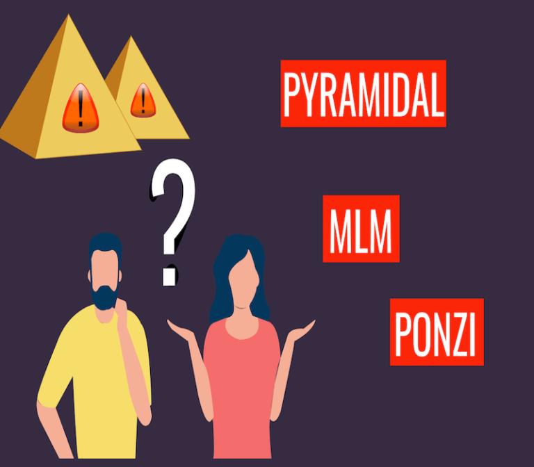 Mlm VS PONZI VS arnaque pyramidale – différences et conseils